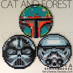 Star Wars coasters perler beads