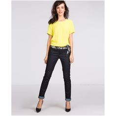 Dunkle Slim-Jeans.