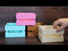 2x4 Crafts, Diy Crafts For Gifts, Cardboard Crafts, Diy Wood Box, Wood Boxes, Handmade Soap Recipes, Bouquet Box, Box Frame Art, Diy Storage Boxes