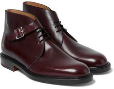 $1,905, John Lobb Combe Buckled Leather Boots. Sold by MR PORTER. Click for more info: https://lookastic.com/men/shop_items/343096/redirect