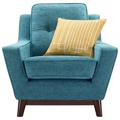 Buy G Plan Vintage The Fifty Three Armchair, Fleck Blue online at JohnLewis.com - John Lewis