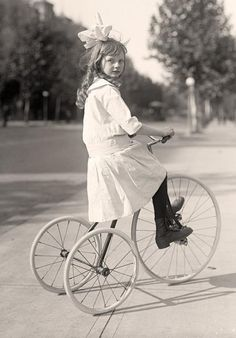 Tricycle-Riding-Girl1913 and 1917 by Harris & Ewing.