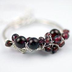 Garnet & Silver Pendant Necklace by {thebeadgirl} $106.00