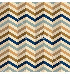 Zigzag chevron pattern in retro colors vector on VectorStock®