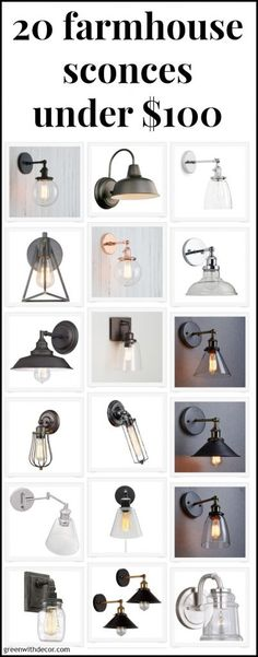 20 affordable beachy, coastal and farmhouse sconces under $100. Great for small bathrooms or to update any bathroom on a small budget. Love the silver, copper and bronze options!