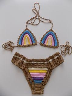 crochet bikini,custom crochet bikini,crochet swimsuits,crochet swimwear,Beach wear,crochet sexy bikini,Bohemian,Gypsy,Bikini set by pompomhats on Etsy