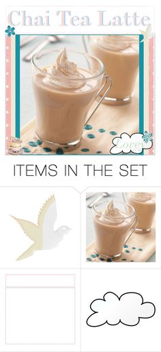 """Chai Tea Latte"" by recipes-of-neverland ❤ liked on Polyvore featuring art, latte, coffee, chai, chai tea latte and chai tea"
