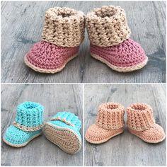 Cuffed Baby Booties - Größen 0-12 Monate - Häkelmuster - von einem ausgefransten Knoten Boutique #ausgefransten #Baby #Booties #Boutique #Cuffed #einem #Größen #Häkelmuster #Knoten #Monate #von