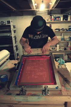 Printing is life. #screenprinting #printlife