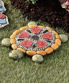 Look at this Mosaic Turtle Stepping Stone on #zulily today!