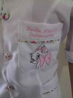 Jaleco Feminino Com Touca E Bordados Gratis - R$ 82,80 em Mercado Livre