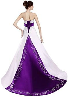 Faironly D212 Strapless Colorblock Wedding Dresses (X-Small, White Purple) FairOnly http://www.amazon.com/dp/B00U79LE8Q/ref=cm_sw_r_pi_dp_oNOPvb0Y83APR