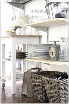 Love the open shelves IKEA