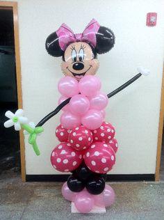 Balloon Column Minnie Mouse