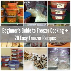 Beginner guide to freezer cooking plus 20 easy freezer cooking recipes to get started