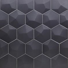 Ivy Hill Tile Bethlehem 3D Hexagon Dark Gray 5.9 in. x 6.96 in. x 8mm Matte Ceramic Wall Tile (25 pieces / 5.4 sq. ft. / box)