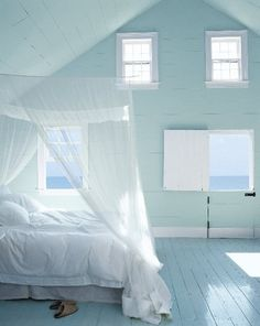 A beautiful coastal bedroom to wake up to