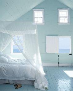 A beautiful coastal bedroom to wake up to