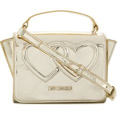 4a22ca38688d Love Moschino double heart crossbody bag ( 174) ❤ liked on Polyvore  featuring bags