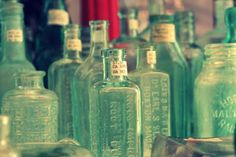 Green Glass Bottles: Beautiful photography from Jessica Nichols, Sweet Eventide Photography