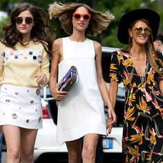 Squad goals. // Summer time street style inspo from Milan Fashion Week | StyleCaster.com