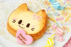 Cute cat cakes captivate our culinary cravings Best Birthday Cake Recipe, Cake Birthday, Japanese Cheesecake, Kawaii Dessert, Cute Candy, Candy Store, Fancy Cakes, Cute Food, Cakes And More