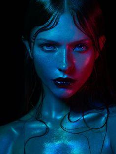 Masha Radkovskaya   Elite Paris   Photography   Remi Kozdra & Kasia Baczulis   blue   fashion   electric   shine   love   fashion   www.republicofyou.com.au