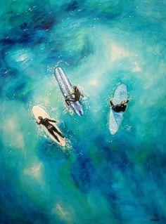 Large Weekender Carry-on Ocean Waves Fishing Art Ambesonne Teal Gym Bag