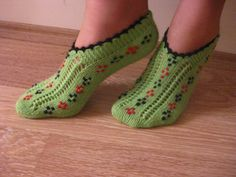 women slipperswinter fashionhouse shoesHand Knit by AnkaraFlavour, $20.00