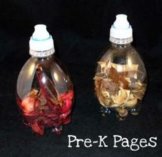 Scented science discovery bottles via www.pre-kpages.com