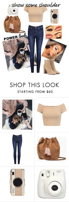 """Show Some Shoulder"" by fangirlral ❤ liked on Polyvore featuring Chicwish, Alice + Olivia, IDA, UGG, Kate Spade, Fujifilm and Yves Saint Laurent"