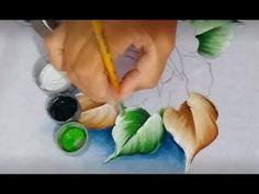 Como pintar folhas secas - dicas para iniciantes na pintura em tecido - YouTube