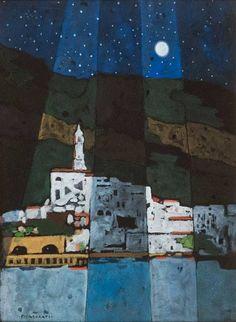 """""""Notturno di Amalfi"""", opera di Felice Casorati"""