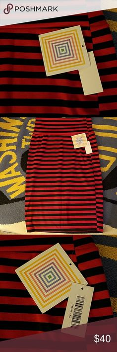 BNWT Lularoe Cassie BNWT Black and red cassie. XS LuLaRoe Skirts Pencil
