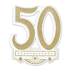 50th Anniversary Paper Gold Crest, 13'' x 12'' | 1 ct