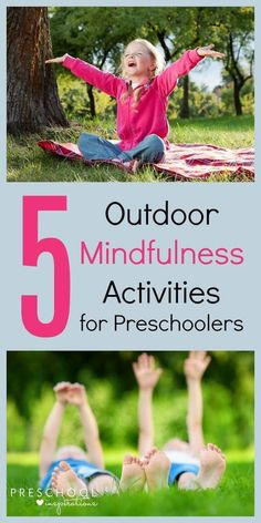 Going back to school can be tough! Try these five outdoor mindfulness activities for preschoolers to help your child wind down and refocus. #mindfulness #activities #kids #outdoor #nature #preschoolers