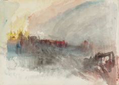 The Burning of the Houses of Parliament  From Burning of the Houses of Parliament (1) Sketchbook  Turner Bequest CCLXXXIII  Date  1834  Medium  Watercolour on paper