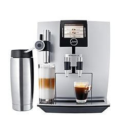 Jura Capresso's TFT super-automatic espresso machine is the company's first with a TFT display that allows users to select a cup of crema coffee, espresso, latte cappuccino or latte macchiato. Cappuccino Maker, Espresso Maker, Espresso Coffee, Coffee Maker, Jura Espresso, Coffee Shop, Swiss Coffee, Coffee Geek, Coffee Bars
