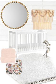 Nursery Twins, Boho Nursery, Nursery Decor, Nursery Ideas, Target Side Table, Sophisticated Nursery, Pink Paint Colors, Kids Lamps, Boho Diy