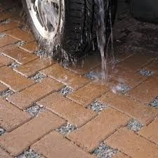 Permeable block grid paver with gravel