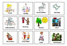 Mariaslekrum - Bildstöd. Preschool Worksheets, Preschool Crafts, Social Stories Autism, Learn Swedish, Swedish Language, Autism Learning, Learn English Grammar, Toddler Fun, Aspergers