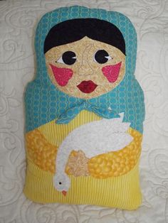 Girl with Goose Pillow Doll