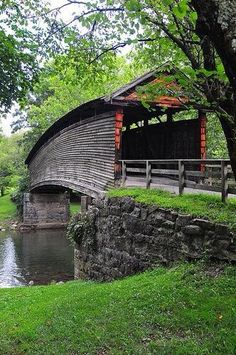 Photo: Beautiful, humpback covered bridge in West Virginia ❤  I need a bridge like this on our farm.