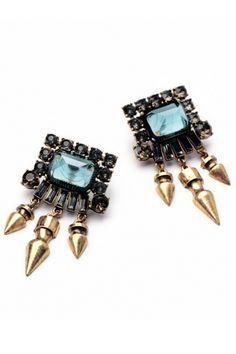 Punk Rivet Geometric Stud Earrings