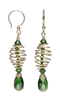 Jewelry Design - Earrings with Swarovski Crystal and Wirework - Fire Mountain Gems and Beads
