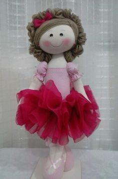 Boneca de pano bailarina. Atelie  Arte Dri.