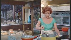 The Parent Trap. Monterey kitchen (with Maureen O'Hara) reminds me so much of my Aunt Gretchen's kitchen.