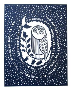 Owl paper cut | Jud Barry