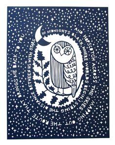 Owl paper cut | Jud Barry