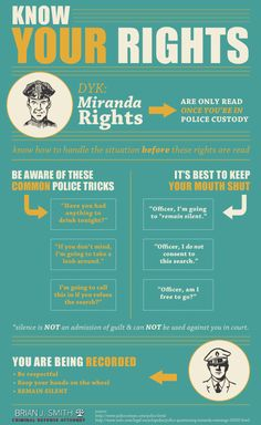 Police encounters can be tricky, since many behaviors can be mistaken as evasive. The solution? Know your rights. #knowyourrights #law #legaladvice #mirandarights #police
